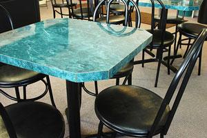 plastic laminate table top